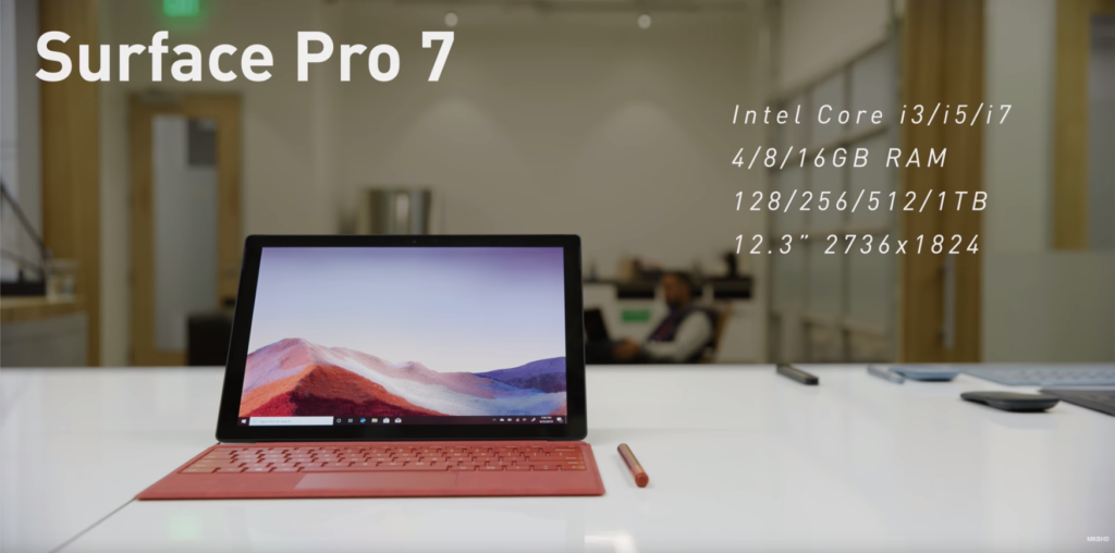 Surface Pro 7 usb c surface pro X mkbhd